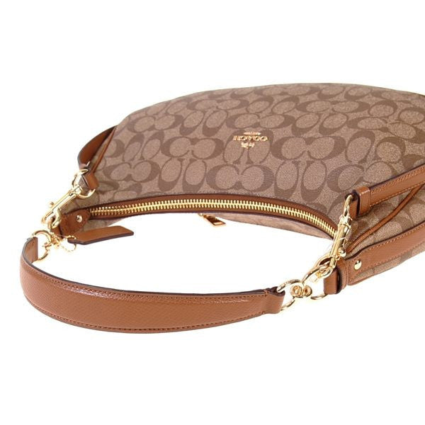 COACH HARLEY EAST/WEST HOBO IN SIGNATURE - GOLD/KHAKI/SADDLE - PitaPats.com