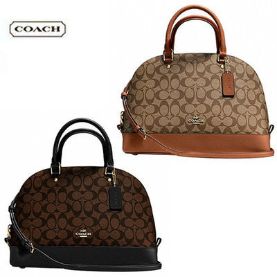 COACH SIERRA SATCHEL IN SIGNATURE - GOLD/BROWN/BLACK - PitaPats.com
