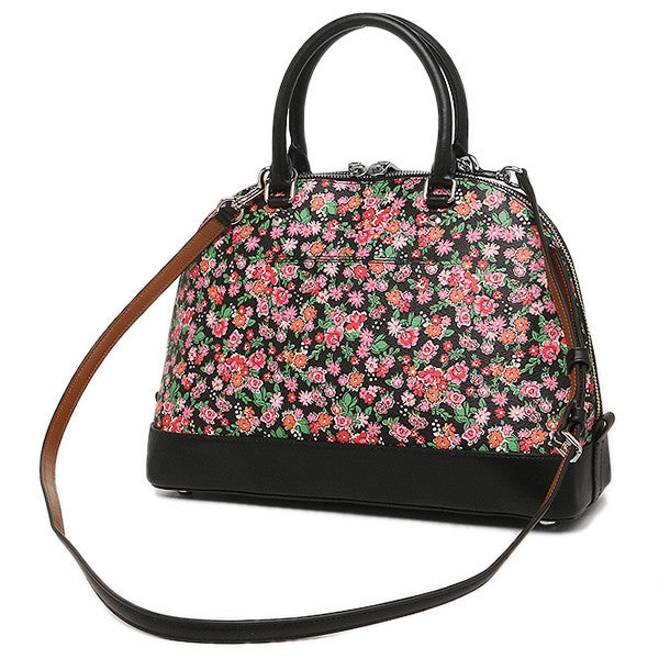 COACH SIERRA SATCHEL IN POSEY CLUSTER FLORAL PRINT COATED CANVAS - PitaPats.com