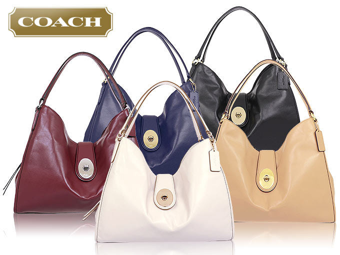 COACH CARLYLE SHOULDER BAG IN SMOOTH LEATHER - PitaPats.com