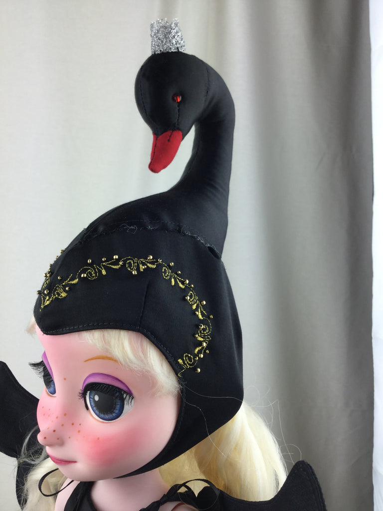 Custom Disney Animator Doll - Black Swan princess - PitaPats.com