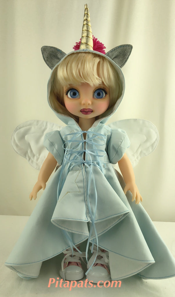 Custom Animator Doll Cinderella - Blue Unicorn fairy