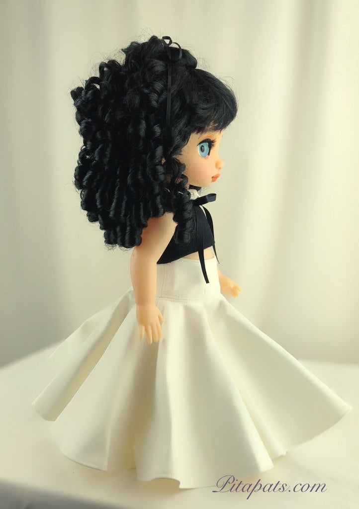 Custom Disney Animator Doll Snow White In Chanel Style dress With New Hair