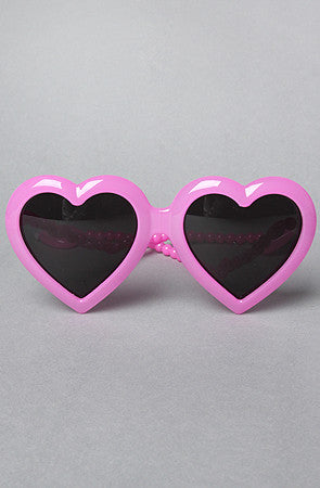 JEREMY SCOTT Heart Sunglasses - PitaPats.com