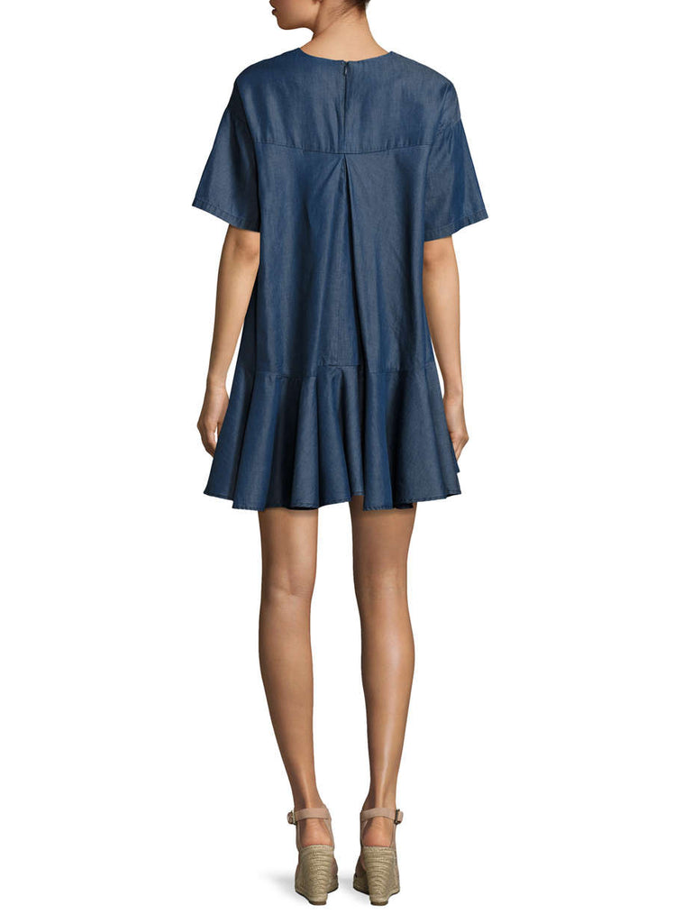French Connection Arrow Crepe In Denim Chambray Dress - PitaPats.com