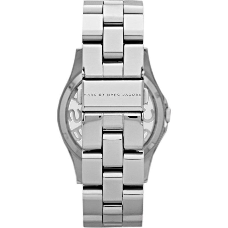 MARC BY MARC JACOBS Henry Skeleton Silver Dial Stainless Steel Ladies Watch - PitaPats.com