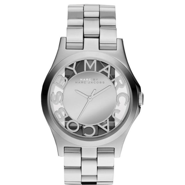 MARC BY MARC JACOBS Henry Skeleton Silver Dial Stainless Steel Ladies Watch