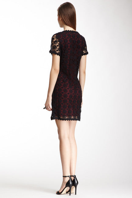 FRENCH CONNECTION USA Hope Short Sleeve Lace Dress - PitaPats.com