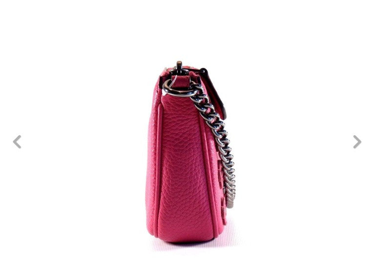 COACH NOLITA WRISTLET 15 IN FLORAL RIVETS LEATHER - Pink - PitaPats.com