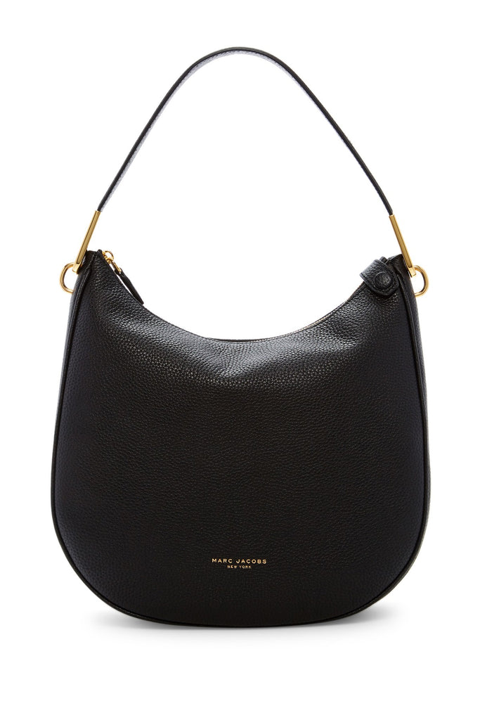 Marc Jacobs The Essential Leather Hobo - BLACK - PitaPats.com