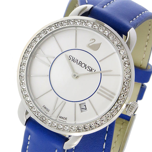 SWAROVSKI Women's Swiss Made Alia Day Double Tour Leather Strap Watch - PitaPats.com