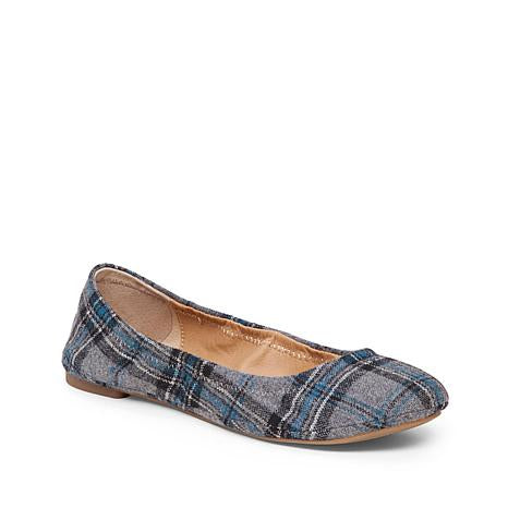 LUCKY BRAND Zuni Plaid Round Toe Flats
