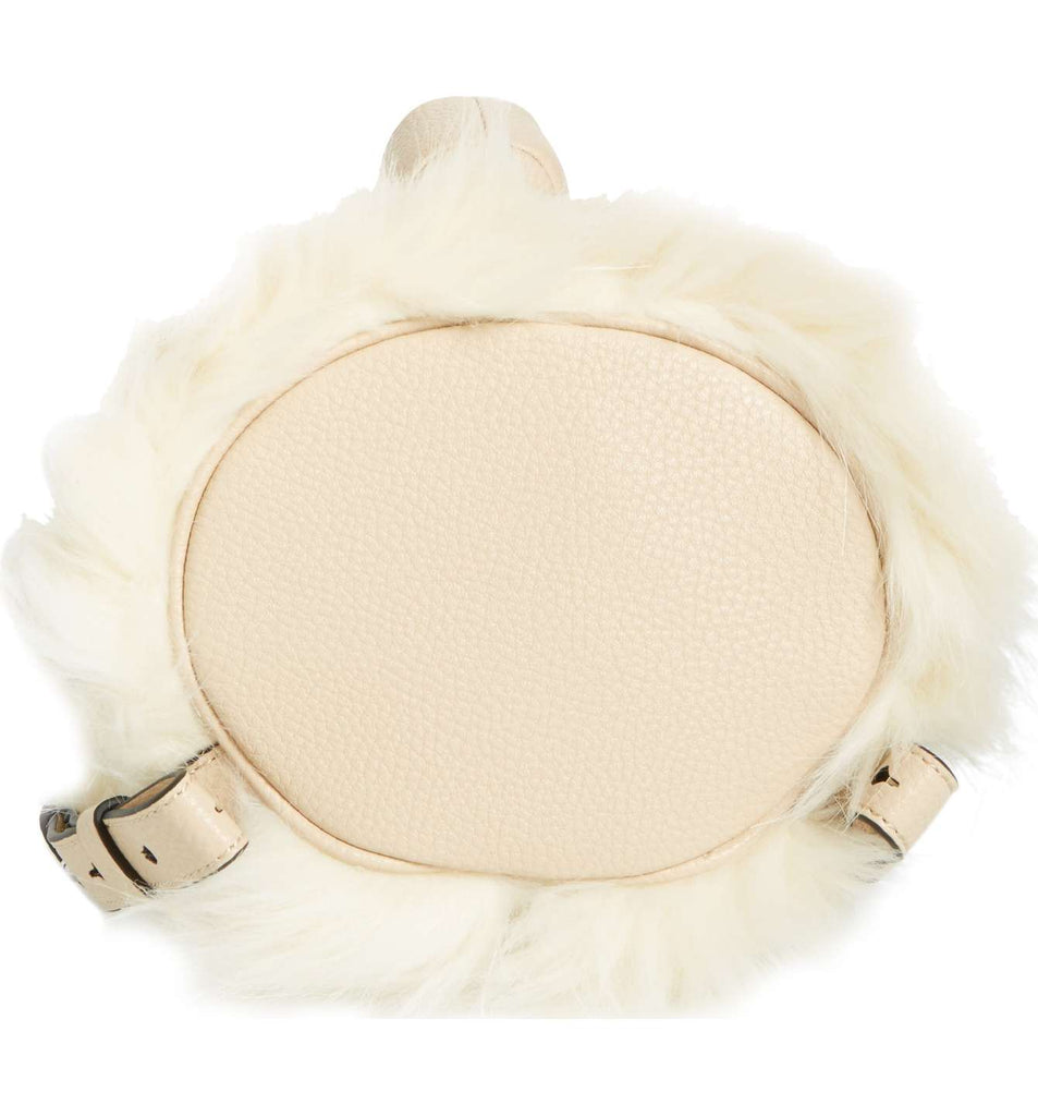Kendall & Kylie Normie Faux Fur & Leather Backpack