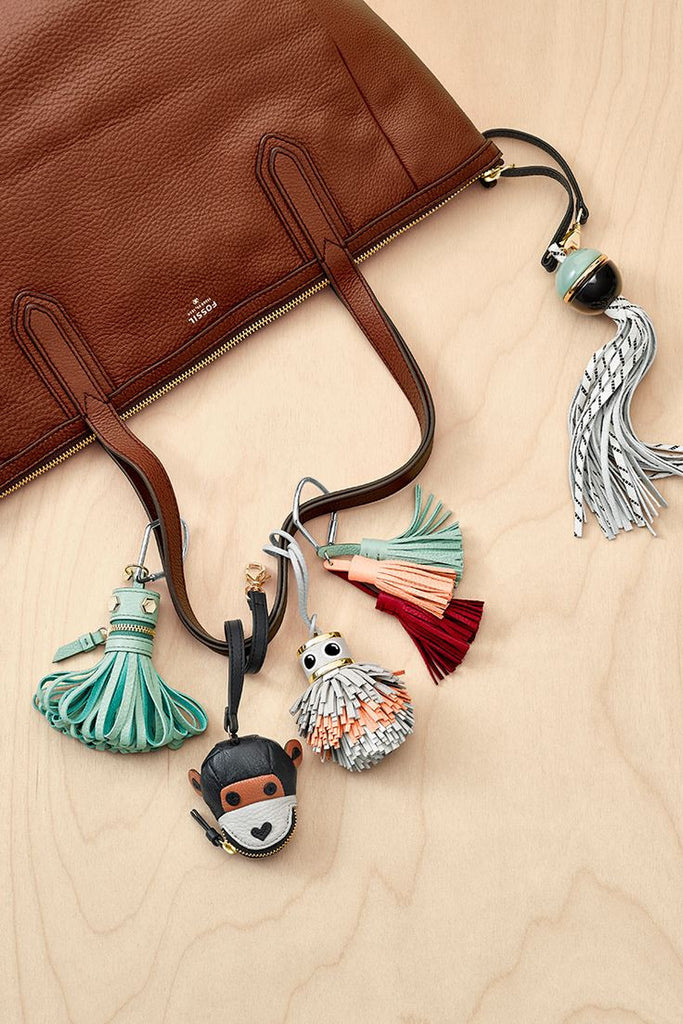Fossil Monkey Bag Charm - Midnight Navy - PitaPats.com