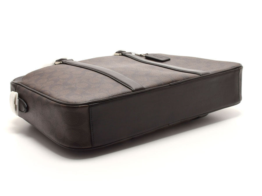 COACH PERRY SLIM BRIEF IN SIGNATURE - PitaPats.com