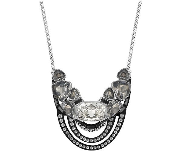 SWAROVSKI Divine Crystal On Black Alcantara Necklace