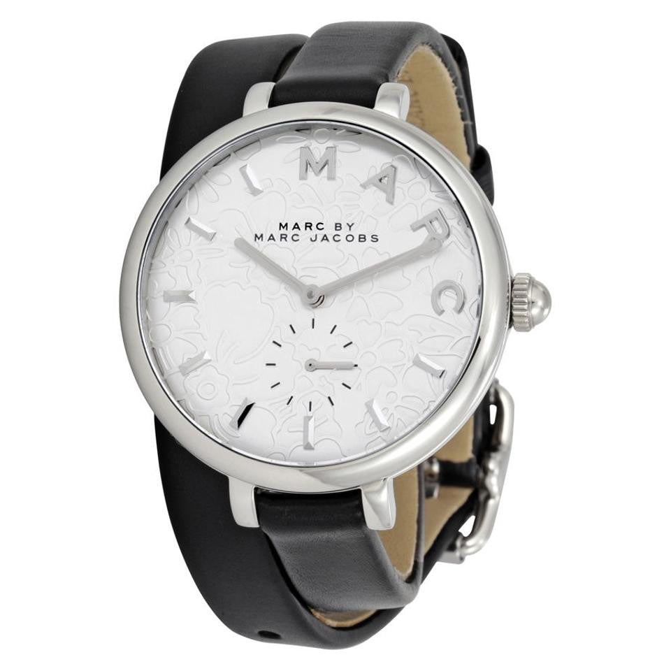 MARC JACOBS Women's Sally Double-Wrap Leather Strap Watch In Silver Tone - PitaPats.com