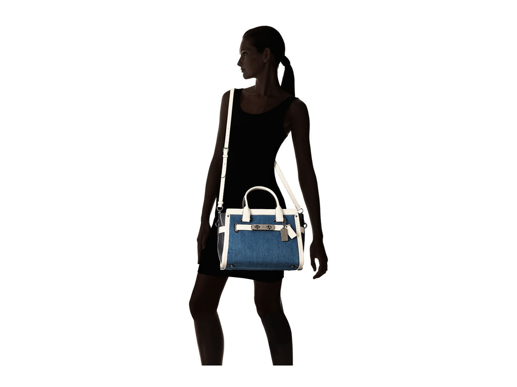 COACH Soft Swagger Carryall in Colorblock Denim - PitaPats.com