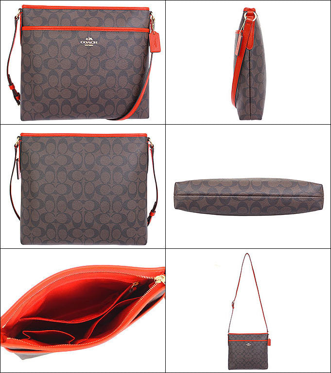 COACH FILE BAG IN SIGNATURE - W true red line - PitaPats.com