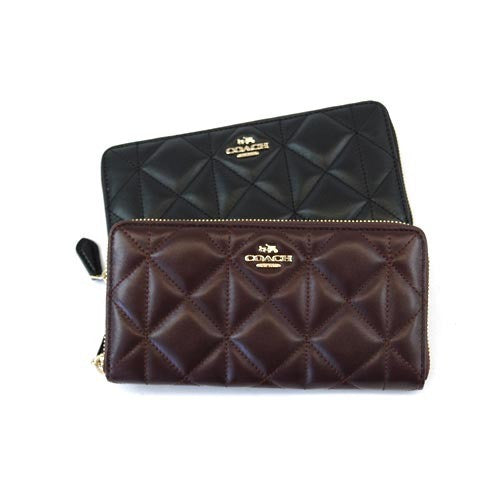 COACH ACCORDION ZIP WALLET IN QUILTED LEATHER - PitaPats.com