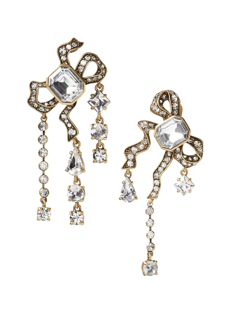 Banana Republic Jeweled Asymmetric Bow Clip-On Earring - PitaPats.com