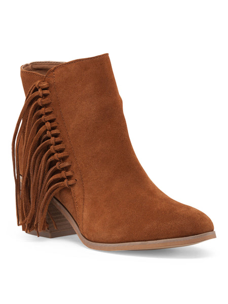 KENNETH COLE REACTION Suede Fringe Bootie