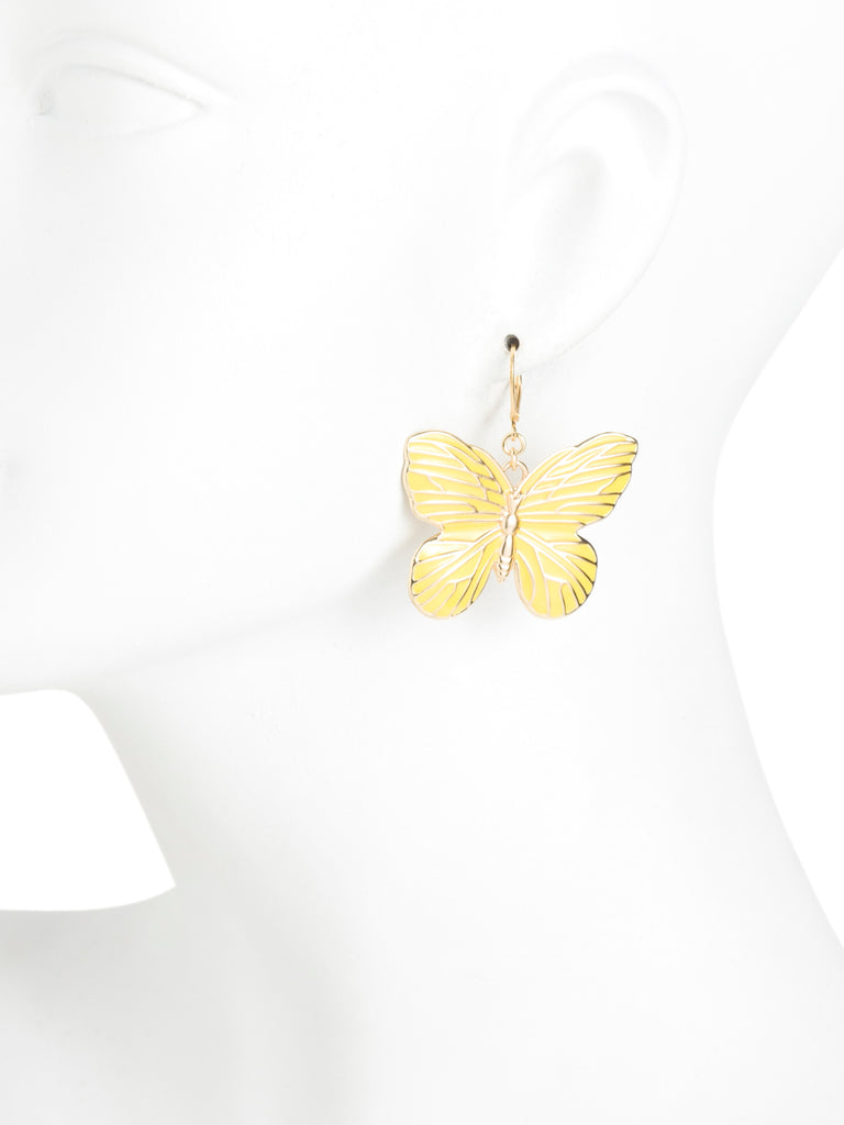 KENNETH JAY LANE Made In USA Butterfly Earrings
