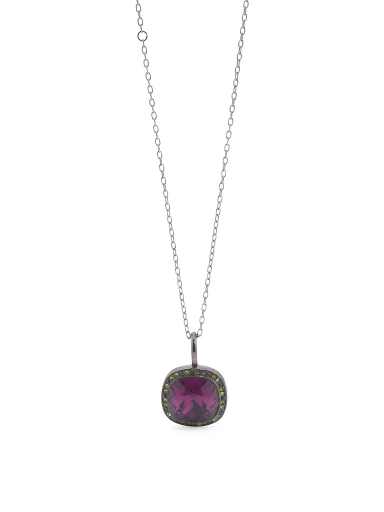 KENNETH JAY LANE Made In USA Crystal Halo Amy Pendant Necklace - PitaPats.com