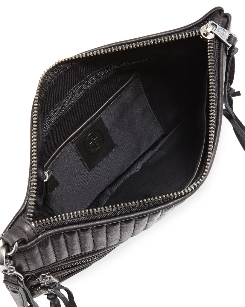 Ash Trix Quilted Leather Clutch Bag, Black - PitaPats.com
