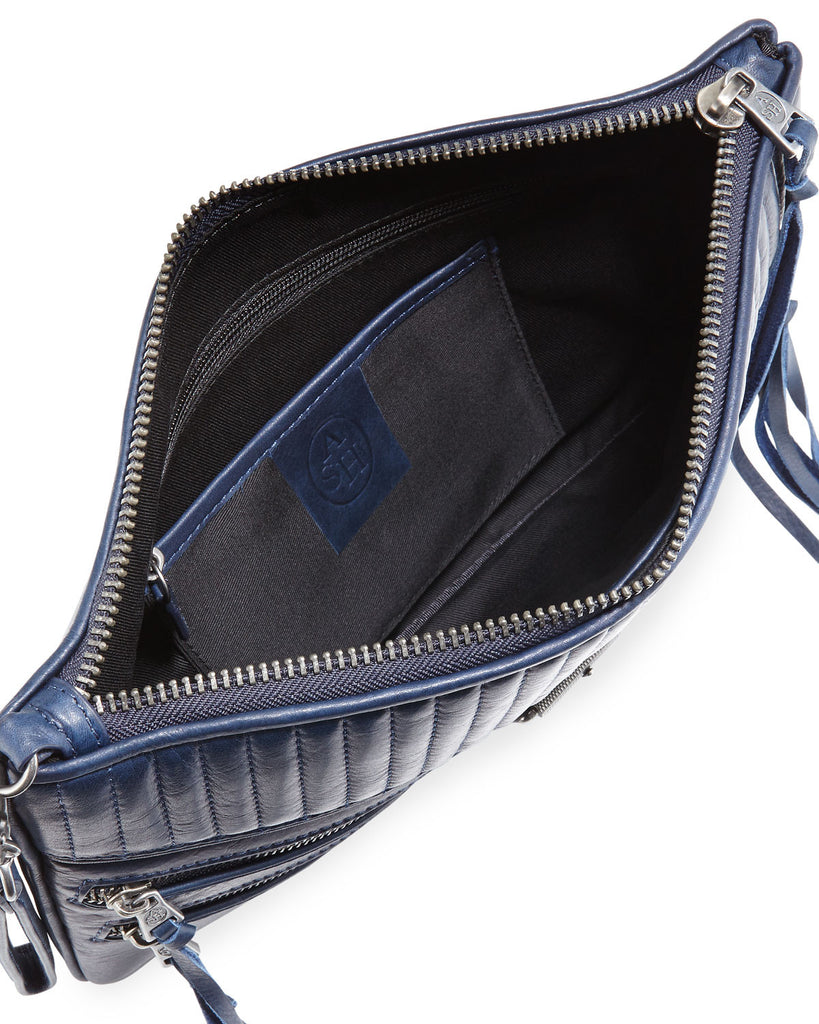 Ash Trix Quilted Leather Clutch Bag, Indigo - PitaPats.com