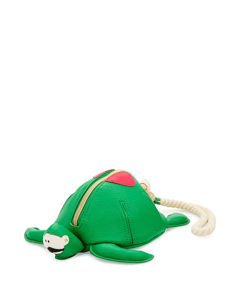 Betsey Johnson Turtle Faux-Leather Wristlet, Green - PitaPats.com