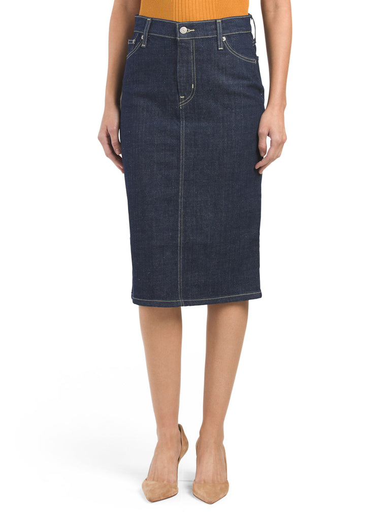 LEVIS Denim Midi Pencil Skirt - PitaPats.com