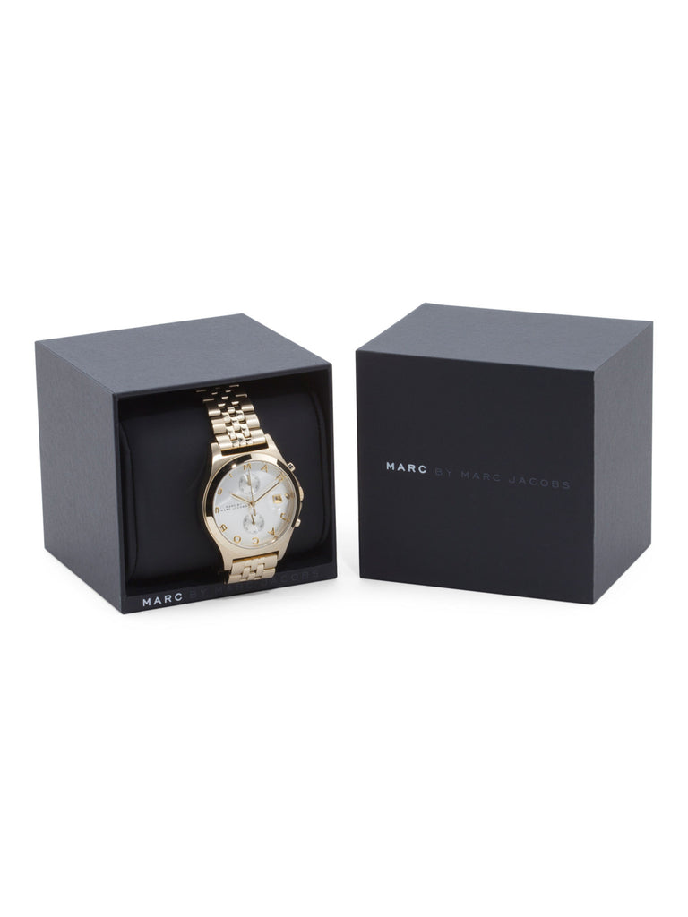 MARC BY MARC JACOBS Women's 38mm Gold-Tone Stainless Steel Watch - PitaPats.com