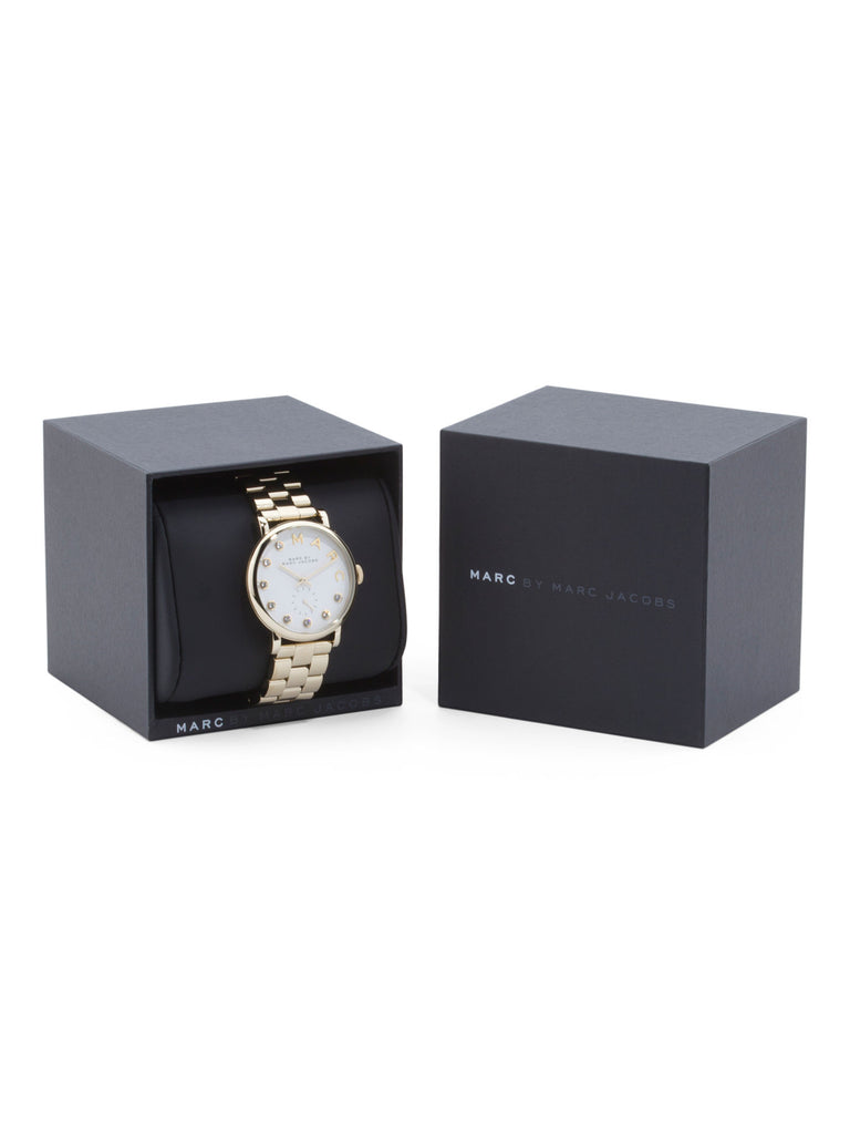 MARC BY MARC JACOBS Women's Baker Crystal Index Quartz Watch - PitaPats.com