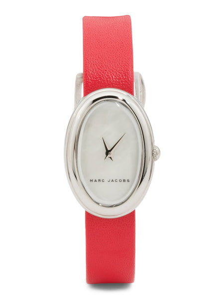 MARC JACOBS Women's Cicely Oval Dial Leather Strap Watch
