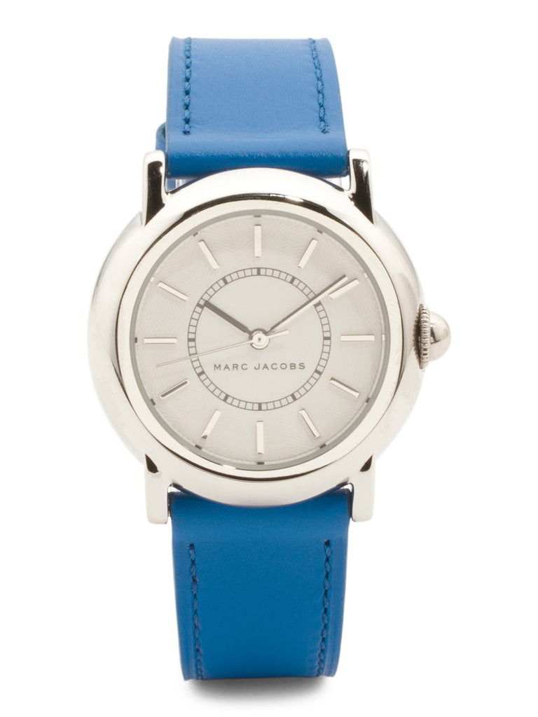 MARC JACOBS Women's Courtney Leather Strap Watch - PitaPats.com