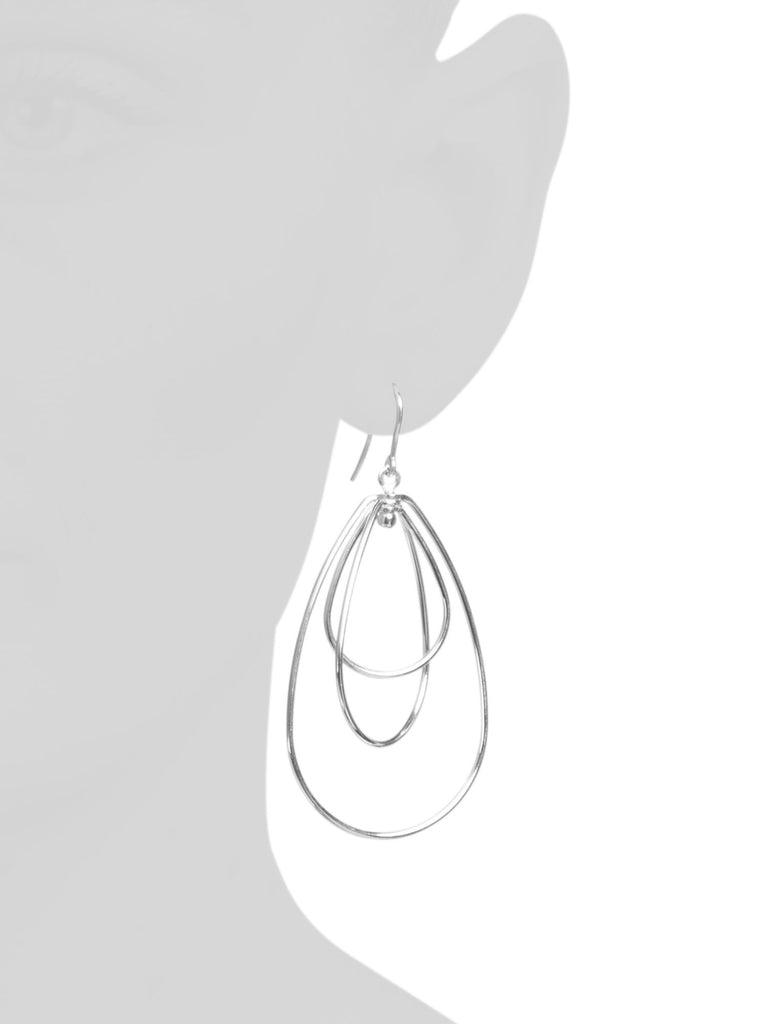 MIA FIORE Made In Italy Sterling Silver Graduated Teardrop Earrings - PitaPats.com