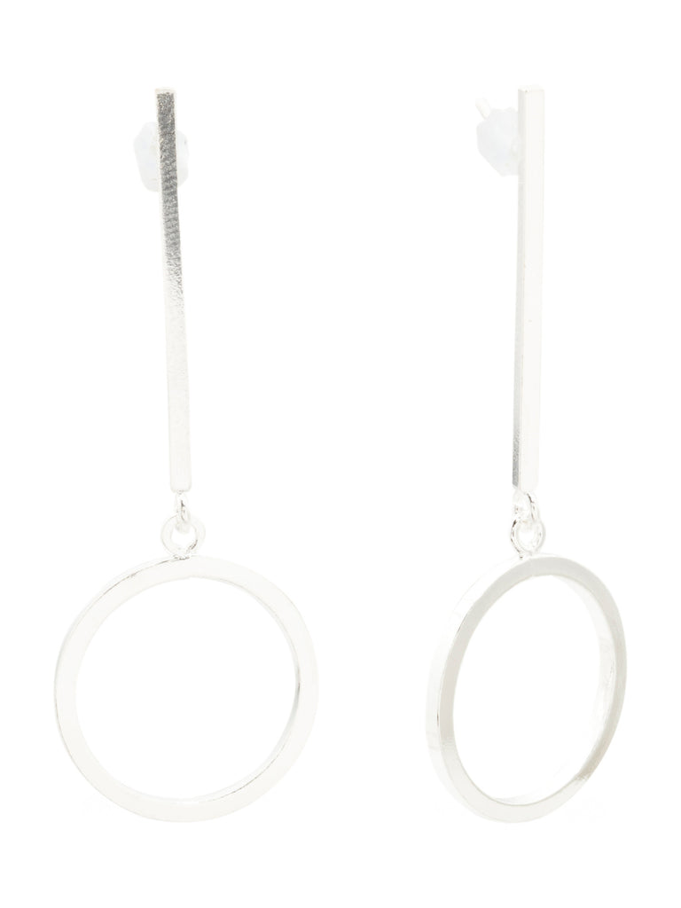MIA FIORE Made In Italy Sterling Silver Bar And Round Earrings - PitaPats.com