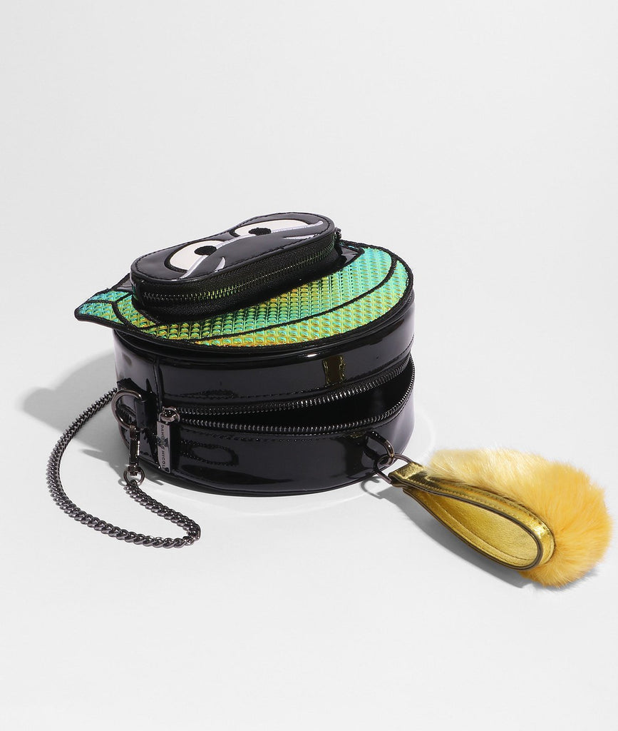 Danielle Nicole Marvin the Martian Faux Fur Handle Crossbody - PitaPats.com