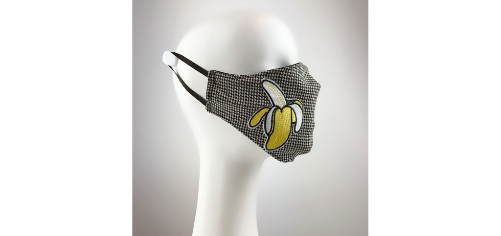 Mask 4 Medicine Banana Houndstooth Mask