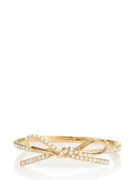 Kate Spade skinny mini pave bow bangle Bracelet - PitaPats.com