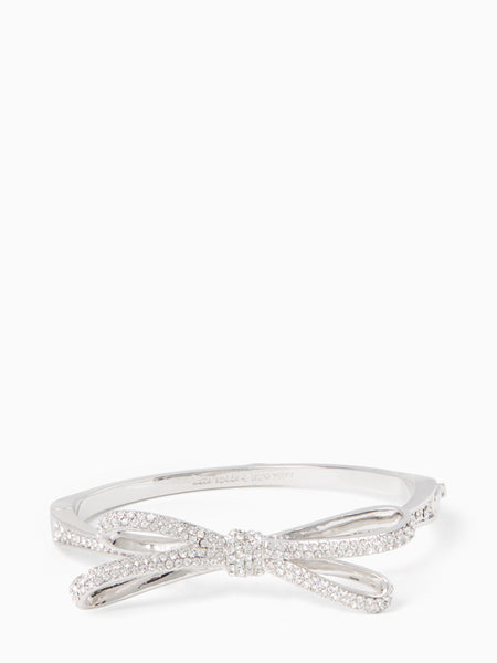 Kate Spade tied up pave hinge bangle - silver
