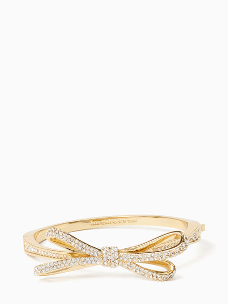 Kate Spade tied up pave hinge bangle - gold - PitaPats.com