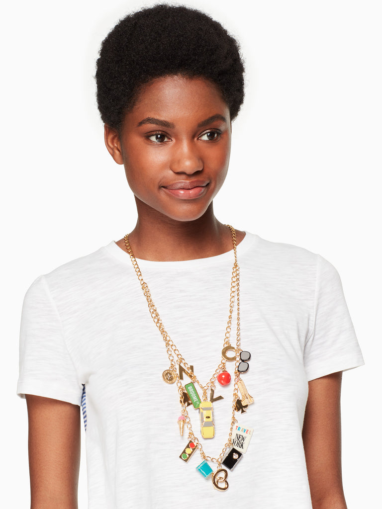 Kate Spade bright lights, big city charm necklace - PitaPats.com