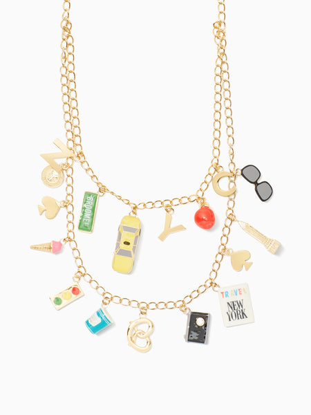 Kate Spade bright lights, big city charm necklace