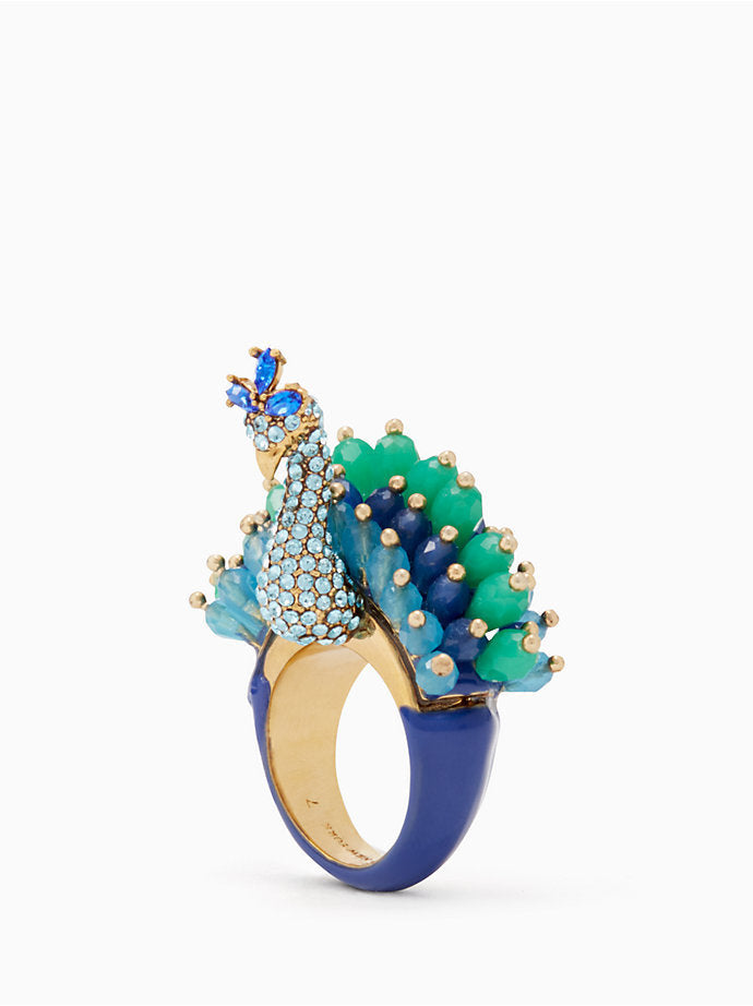 kate spade new york - full plume peacock ring