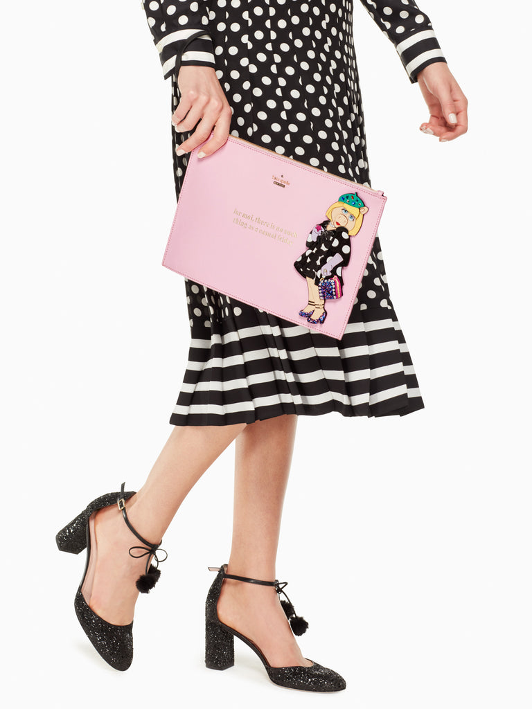 Disney miss piggy collection by kate spade new york britta handbag - PitaPats.com