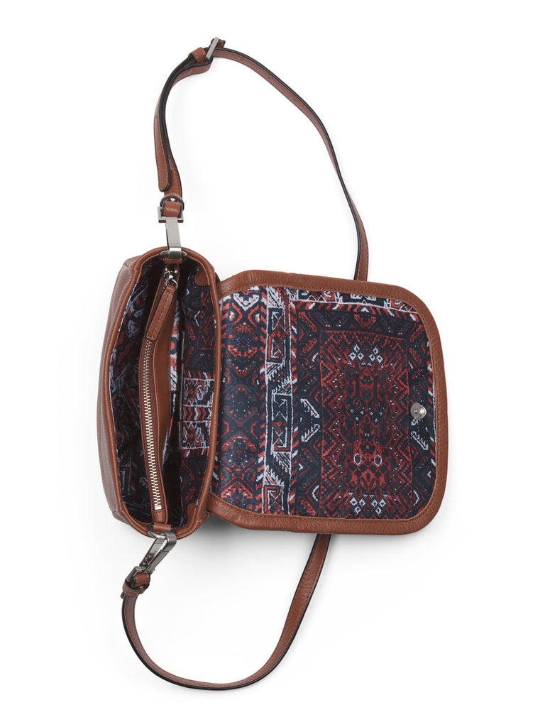 SANCTUARY Leather Hero Flap Crossbody - Smoke - PitaPats.com