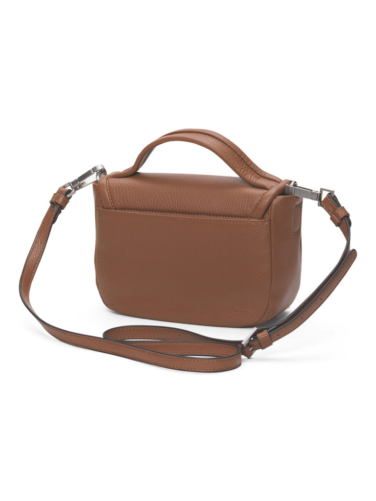 SANCTUARY Leather Hero Flap Crossbody - Maple - PitaPats.com