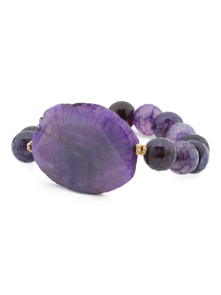 SPRIG Purple Agate Stretch Bracelet